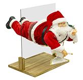 Santa Volando con Movimiento Música y Luz 66cm