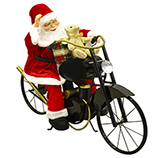 Santa con Motocicleta con Movimiento Luz y Música