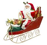 Santa con Luz Led y Trineo 60cm