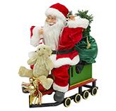 Santa con Tren y Luz Led 50cm