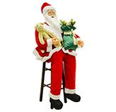 Santa con Silla Movimiento y 5 Canciones 150cm
