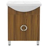 Mueble Caoba con Lavamanos de Porcelana Blanco 62x85cm