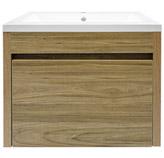 Mueble Caoba con Lavamanos de Porcelana Blanco 46x60cm