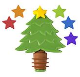 Corcho para Botella + Marcadores Noel 7 Piezas Joie