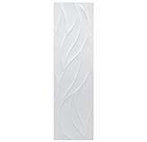 Cerámica Blanco Ondas Mate Satín 33x120cm Hecha en España