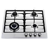 Cocina a Gas con 3 Quemadores + 1 Triple Llama de Acero Inoxidable de 58x50cm Mastermaid CREA