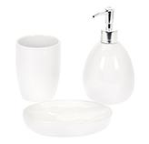 Accesorios de Baño de Cerámica Globe Blanco 3 Piezas