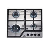 Cocina a Gas EGI-604AI con 4 Quemadores Acero Inoxidable de 58X50cm Indurama
