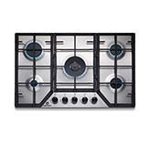 Cocina a Gas EGI-755AI con 5 Quemadores Acero Inoxidable de 76X50cm Indurama