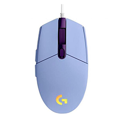 Mouse Logitech Alambrico Gamer G203 Lightsync Usb Lila