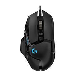 Mouse Logitech Alambrico Gamer G502 Hero 11 Botones Usb Negro