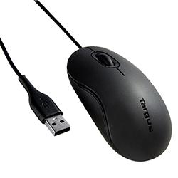 Mouse Targus Alambrico Usb Negro