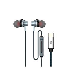 Audifono + Microfono Hp In Ear Conector Tipo C Negro