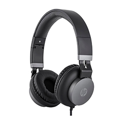 Audifono + Microfono Hp On Ear Conector 3.5Mm Negro
