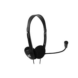 Audifono + Microfono Klip Xtreme Para Conferencia 2 Conectores 3.5Mm 27Mm On Ear Negro