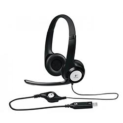 Audifono + Microfono Logitech H390 Usb / Control De Volumen