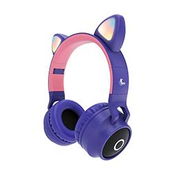 Audifono + Microfono Xtech On Ear Bluetooth - Diseño Plegable - Tarjeta Sd - Morado
