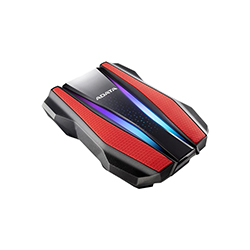 Disco Duro Ext 2.5 Adata 1Tb 3.0 Ah710 Anti-Golpe Rojo Rgb