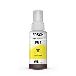 Botella De Tinta Epson T664 Yellow 70Ml - L220,L380,L355,L375,L395,L495,L555,L575,L565,L1455,L655