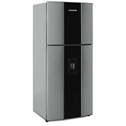 Refrigeradora de 390 Litros CR498B No Frost Gris Con Acrílico  Challenger