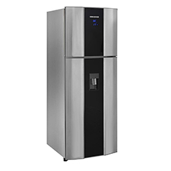 Refrigeradora de 470 Litros CR568B No Frost Gris Con Acrílico Digital Challenger