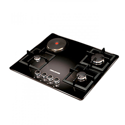 Cocina Mixta Gas Electrica SQ 6768 4 Cristal Templado Quemadores 65cm Challenger