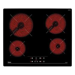 Cocina Eléctrica con 4 Quemadores Vitrocerámica de 60x51cm  Teka