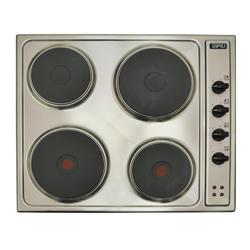 Cocina Eléctrica  con 4 Quemadores de Acero Inoxidable de 60x50cm Dipiu