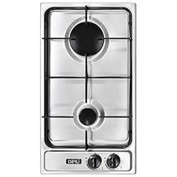 Cocina a  Gas con 2 Quemadores de Acero Inoxidable de 30x51cm Dipiu