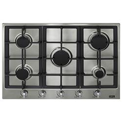 Cocina a Gas con  5 Quemadores de Acero Inoxidable de 70x51cm Dipiu