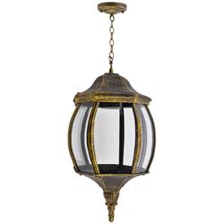Lámpara Oro Negro Colgante Tray con 1 boquilla Watts 100w