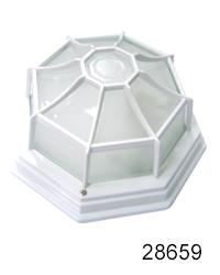 Plafón Decorativo de Jardín, de Aluminio y Vidrio