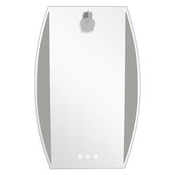 Espejo Vertical Oval Arenado 1 Aplique