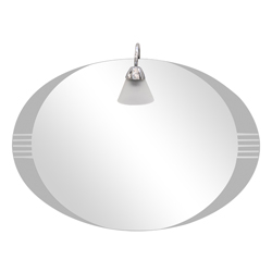 Espejo Horizontal Oval Lateral Arenado