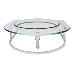 Mueble De Vidrio Aéreo Con Mesón de Vidrio 60x56cm