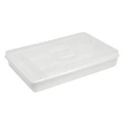 Porta Cubiertos Blanco con Tapa