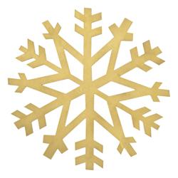 Individual Copo de Nieve Dorado