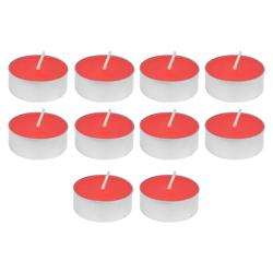 Vela Tealight Roja con Aroma a Manzana 10 Unidades