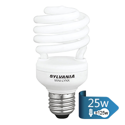 Foco Ahorrador Espiral T2 25w E27 Sylvania