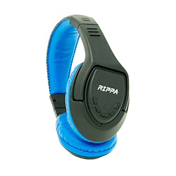 Audífono + Micrófono Bluetooth  On Ear - Hasta 6 Horas de Reproducción Azul Rippa