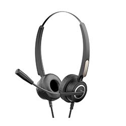 Audífono + Micrófono para Conferencia On Ear USB Negro Hp