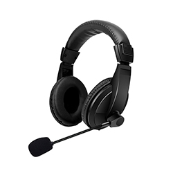 Audifono + Microfono On Ear Conector 3.5mm Negro Xtratech