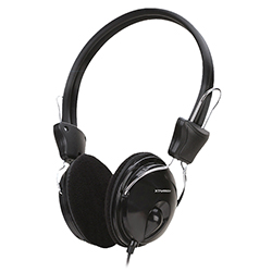 Audifono + Microfono Xtratech On Ear Conector 3.5Mm Negro