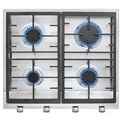 Cocina a Gas con 4 Quemadores Acero Inoxidable de 58X52cm Teka
