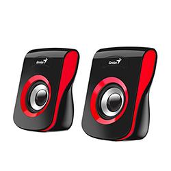 Parlante SP-Q180 Rojo, 6w, USB, E. Audio 3.5mm, Control de Volumen Genius