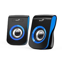 Parlante SP-Q180 Azul, 6w, USB, E. Audio 3.5mm, Control de Volumen Genius