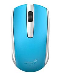 Mouse Eco-8100 Azul Wireless, Batería Recargable Nimh, Sensor Blue Eye Genius