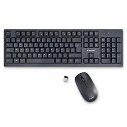 Combo 70708 Teclado y Mouse Inalámbrico Usb Negro Verbatim