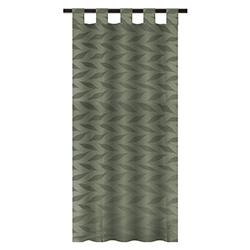 Cortina Lino Hojas #12 Verde Olivo 140x220cm