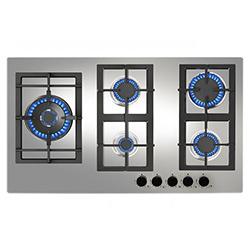Cocina a Gas con 5 Quemadores de Acero Inoxidable de 86x51cm Teka